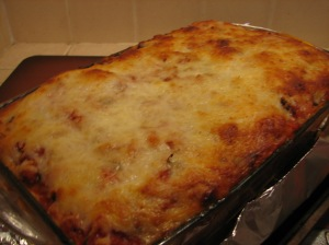 Beautiful and bubbly finished lasagna!