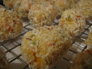 Crispy baked crab cakes!